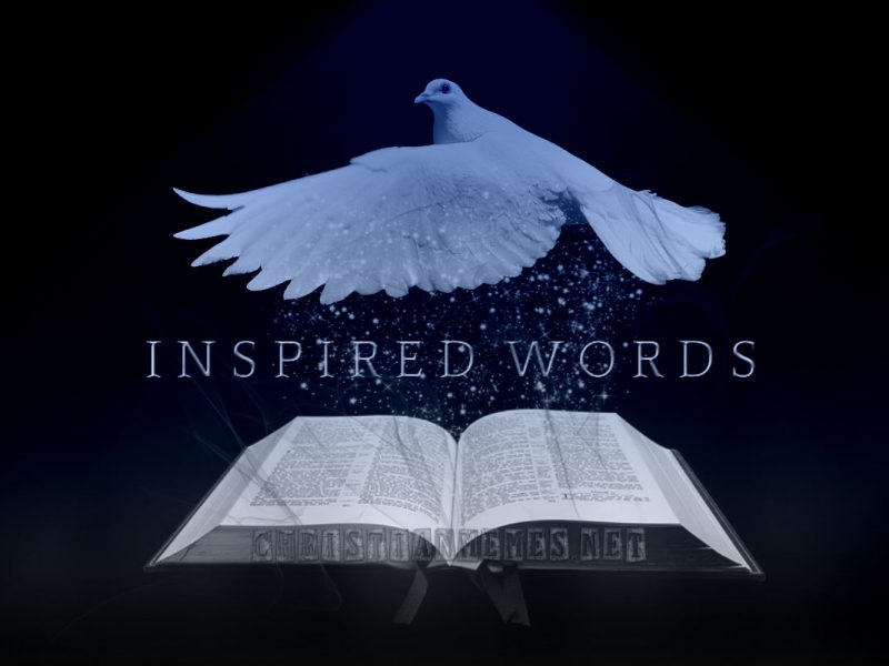 Holy Inspired Words Vintage Blue
